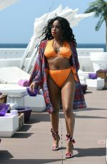LONDON HUGHES in Bikini at a Pool Party in Cape Verde 02/01/2018