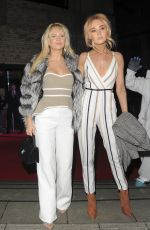 LOTTIE MOSS and NICOLA HUGHES Arrives at Naked Heart Foundation