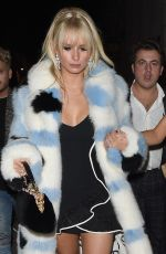 LOTTIE MOSS Leaves Universal Music Brit Awards Afterparty in London 02/21/2018