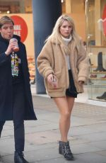 LOTTIE MOSS Out Shopping on Kins Road in London 02/12/2018