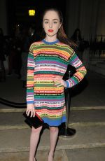 LOUISA CONNOLLY-BURNHAM at Pam Hogg Show at London Fashion Week 02/16/2018
