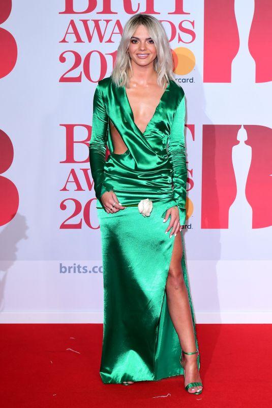 LOUISA JOHNSON at Brit Awards 2018 in London 02/21/2018