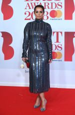 LOUISE REDKNAPP at Brit Awards 2018 in London 02/21/2018