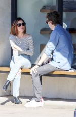 LUCY HALE Out for Cpffee at Alfred