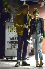 LUCY HALE Out for Dinner in Los Angeles 02/15/2018