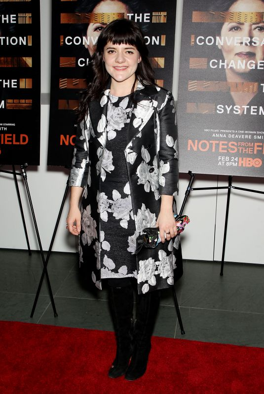 MADELEINE MARTIN at Notes from the Field Special Screening in New York 02/21/2018