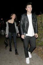 MADISON BEER and Zack Bia at Delilah Nightclub in West Hollywood 02/04/2018