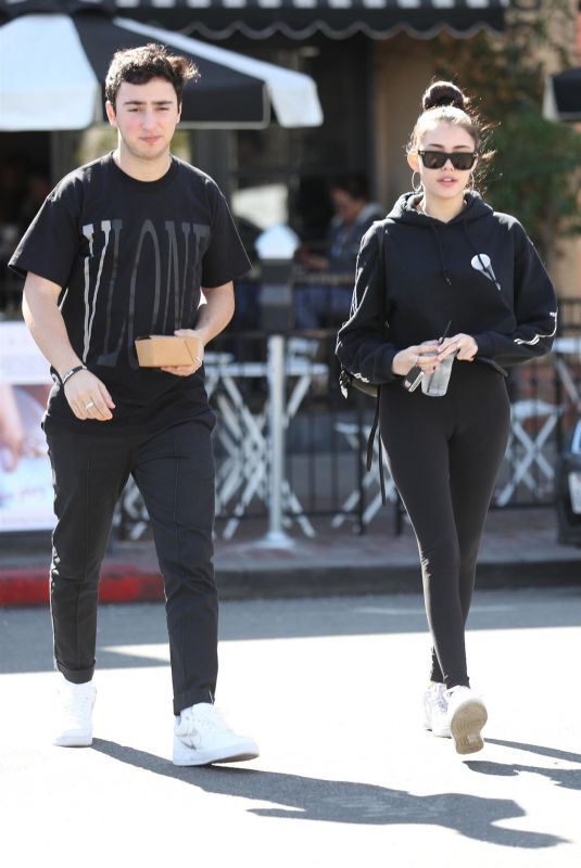 MADISON BEER and Zack Bia Out for Lunch at Alfred