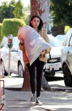 MADISON BEER Gives a Big Bag of Clothes Away to Charity in Los Angeles 02/20/2018