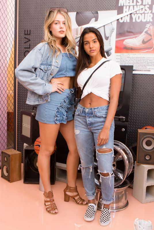 MADISON NAGEL and JULIA MUNIZ at Revolve x Nike 1s Reimagined Pop-up Event in Los Angeles 02/16/2018