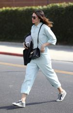 MANDY MOORE Leaves a Salon in Los Angeles 02/12/2018