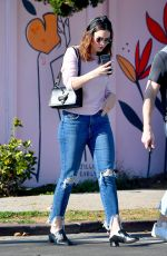 MANDY MOORE Out and About in Los Angeles 02/17/2018