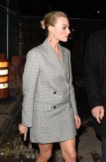 MARGOT ROBBIE Leaves Calvin Klein Fashion Show in New York 02/13/2018