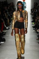 MARIA BORGES on the Runway of Jeremy Scott Fashion Show in New York 02/08/2018