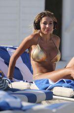 MARIA HERING in Gold Bikini on the Beach in Miami 02/12/2018