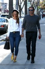 MARIA MENOUNOS and Keven Undergaro Out Shopping in Beverly Hills 02/07/2018