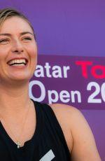 MARIA SHARAPOVA at 2018 Qatar Total Open WTA Tennis Tournament Press Conference in Doha 02/10/2018