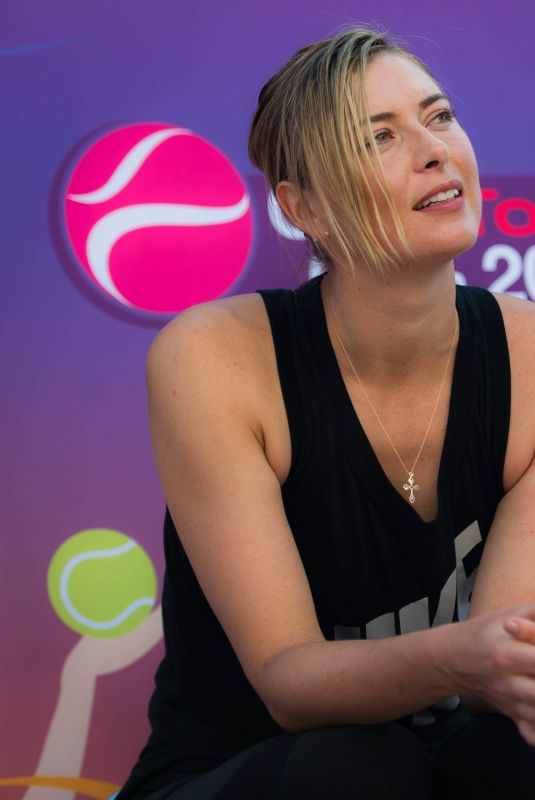 MARIA SHARAPOVA at 2018 Qatar Total Open WTA Tennis Tournament Press Conference in Doha 02/10/2018