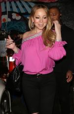 MARIAH CAREY Night Out in West Hollywood 02/19/2018