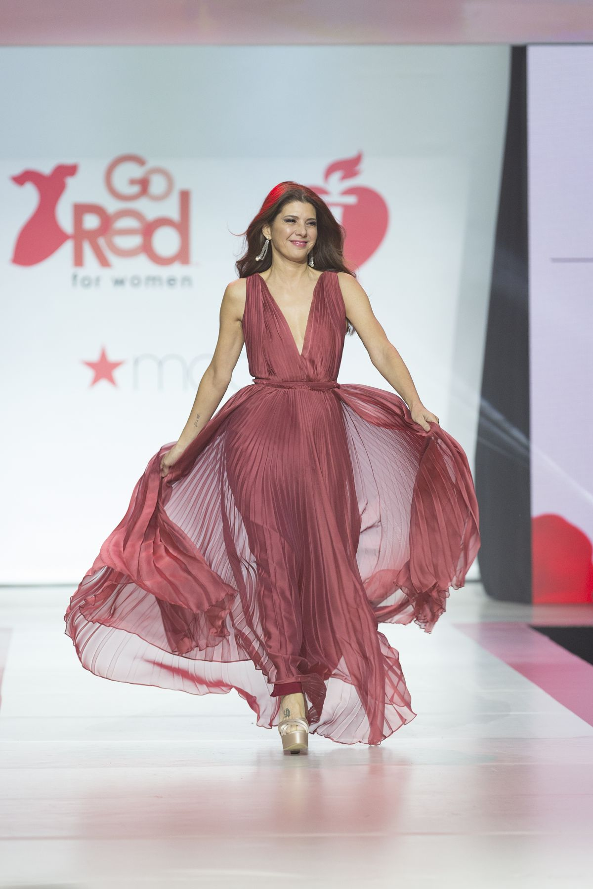 MARISA TOMEI in Gown by Galia Lahav at Red Dress 2018 ...