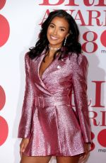 MAYA JAMA at Brit Awards 2018 in London 02/21/2018