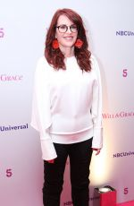 MEGAN MULLALLY at Will and Grace UK Tour Photocall in London 02/08/2018
