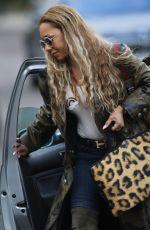 MELANIE BROWN Arrives at Geri Halliwell