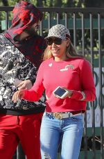 MELANIE BROWN Out and About in Los Angeles 02/07/2018