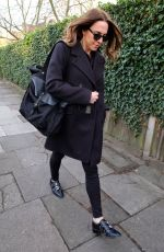 MELANIE CHISHOLM Arrives at Geri Halliwell's Home in London for Spice Girls Reunion 02/02/2018