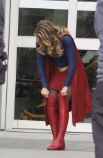 MELISSA BENOIST and AMY JACKSON on the Set of Supergirl in Vancouver 02/13/2018