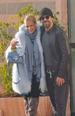 MICHELLE HUNZIKER and Pierfrancesco Favino Arrives at Rehearsals in Sanremo 02/03/2018