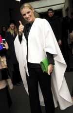 MICHELLE HUNZIKER at Emporio Armani Fashion Show at MFW in Milan 02/25/2018