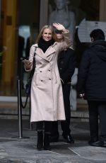 MICHELLE HUNZIKER Leaves Her Hotel in Sanremo 02/01/2018