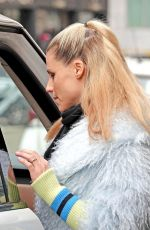 MICHELLE HUNZIKER Out and About in Milan 02/27/2018