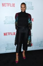 MICHELLE MITCHENOR at Seven Seconds Premiere in Los Angeles 02/23/2018