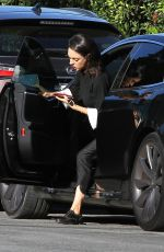MILA KUNIS Arrives at a Chocolate Bar in Los Angeles 02/08/2018
