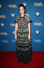 MILANA VAYNTRUB at 2018 Directors Guild Awards in Los Angeles 02/03/2018