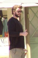 MILEY CYRUS and Liam Hemsworth Out for Lunch in Malibu 02/09/2018