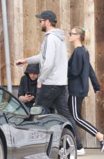 MILEY CYRUS and Liam Hemsworth Out Shopping in Malibu 02/10/2018