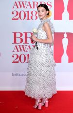MILLIE BOBBY BROWN at Brit Awards 2018 in London 02/21/2018