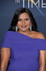 MINDY KALING at A Wrinkle in Time Premiere in Los Angeles 02/26/2018