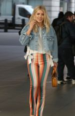 MOLLIE KING Arrives at BBC Radio 1 in London 02/24/2018