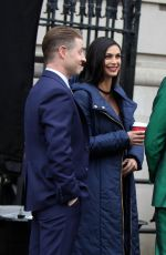 MORENA BACCARIN and Ben McKenzie on the Set of Gotham in Harlem 02/20/2018