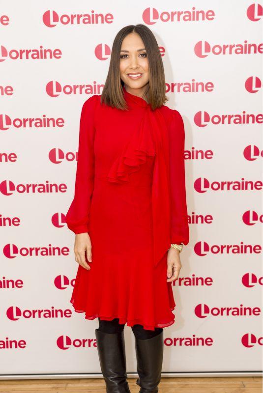 MYLEENE KLASS at Lorraine TV Show in London 02/05/2018