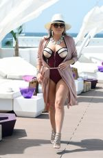 NADIA ESSEX in Swimsuit at a Pool Party in Cape Verde 02/01/2018