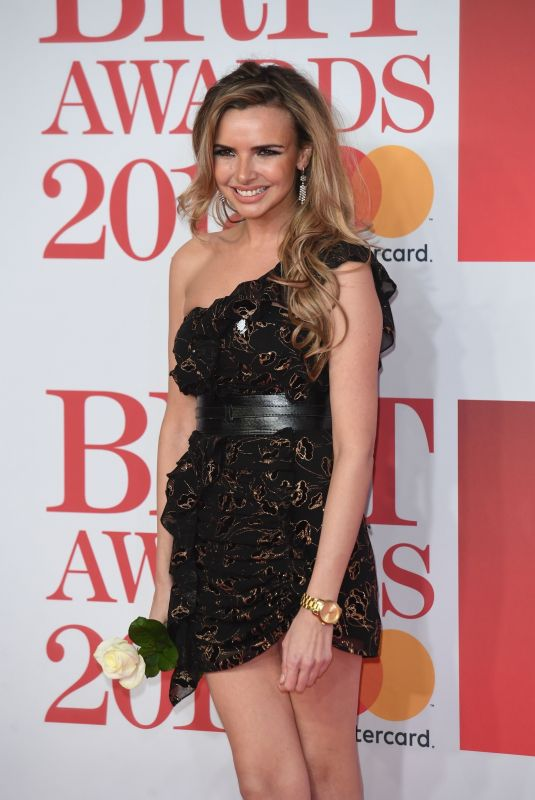 NADINE COYLE at Brit Awards 2018 in London 02/21/2018