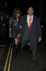 NAOMI CAMPBELL Leaves NME Awards After-party in London 02/14/2018