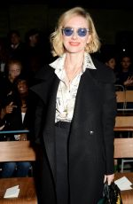 NAOMI WATTS at Burberry Show at London Fashion Week 02/17/2018