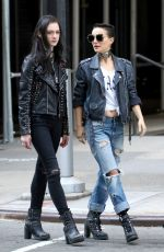 NATALIE PORTMAN and RAFFEY CASSIDY on the Set of Vox Lux in New York 02/28/2018