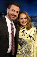 NATALIE PORTMAN at Jimmy Kimmel Live in Los Angeles 02/15/2018